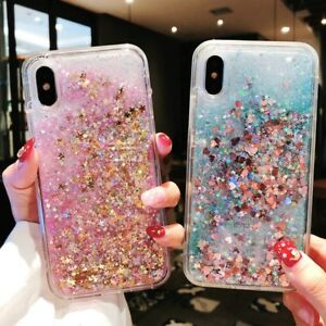 Bling Glitter Liquid Gel Soft Phone Case Cover iPhone 12 11 Pro Max XR X XS 8 7