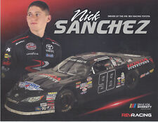 "2018 NICK SANCHEZ ""HONDA GENERATORS"" #98 NASCAR WHELEN LATE MODEL POSTCARD"
