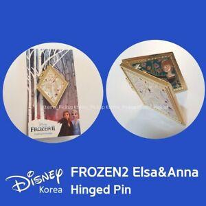 Disney Korea Frozen Frozen2 Limited Elsa Anna Hinged Door Pin Doubleside