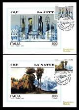 ITALIA REP. - 2000 - Avvento anno duemila (3) - La Natura - La Città
