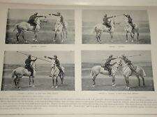 1896 CAVALRY~ SWORD VERSUS LANCE~ HORSES