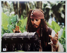 Johnny Depp Signed 11x14 Pirates of the Caribbean Jack Sparrow Photo Chest Gai