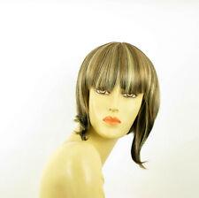 Perruque femme méchée courte blond clair méché cuivré chocolat  ALISEE 15613H4