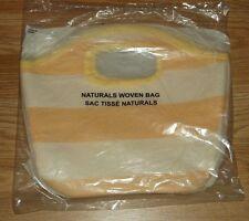 AVON YELLOW & WHITE NATURALS WOVEN BAG  NEW/SEALED