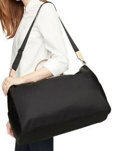 Kate Spade Kennedy Park Filipa Weekender Duffle Black Nylon Travel Gym Bag $398