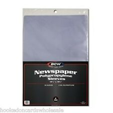 1 Pack 50 BCW Newspaper Sleeve Bags Storage Holder Protection 14 1/8 X 19 1/8