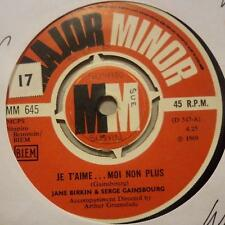 "Jane Birkin & Serge Gainsbourg(7"" Vinyl 2nd State)Je T'aime Moi Non Plus--Ex/Ex"