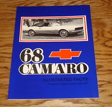 1968 Chevrolet Camaro Illustrated Facts Feature Specification Manual 68 Chevy