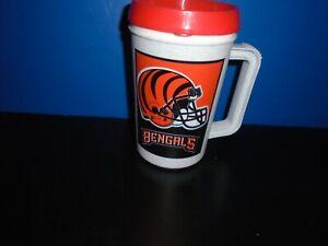 Cincinnati Bengals 1997 Red Lid Super Thermo 22 Oz Insulated Beverage Travel Mug