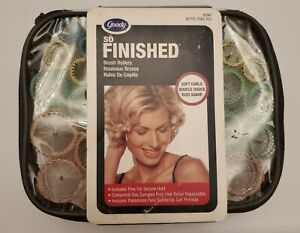 Goody So Finished 36 Pc Brush Rollers Pin Vented Frizz Free Curls New Old Stock