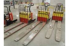2002 Raymond 112TM-FR360L ELECTRIC PALLET RIDER DOUBLE LENGTH FORKS