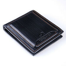 Men's Leather Pockets Short Wallet ID Card Holder Clutch Money Purse Bifold