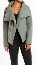 Lucy Hatha Insulated Wrap Studio Jacket Moss Size Large NWT