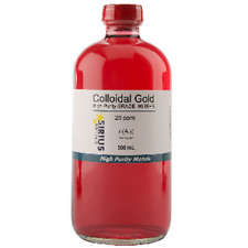 True Colloidal Gold (No Chemicals) - 500 mL of 25 ppm in a glass bottle