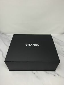 Authentic Chanel Classic Large Black Gift Box with white tissue paper 33*27*13cm