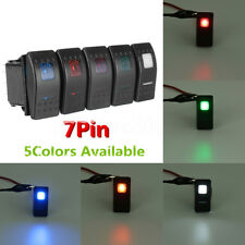 7Pin LED DPDT ON-OFF-ON 2 LED ARB Rocker Switch Car Auto Marine Universal 12/24V