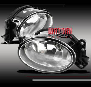 07 08 09 MERCEDES-BENZ E-CLASS W211 BUMPER DRIVING FOG LIGHTS LAMP CHROME W/BULB