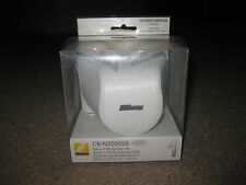 NEW J1 Nikon CB-N2000SB White Leather Body Case for Nikon 1 Nikkor