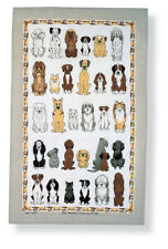 "Ulster Weavers, ""Dogs Arrived"", Pure linen printed tea towel."