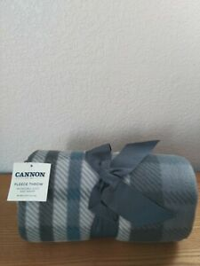 Cannon Gray Fleece Throw Blanket 50x60 inches