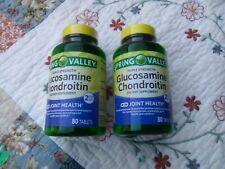 2 PK Spring Valley Glucosamine Chondroitin Triple Strength 80-Tab  Exp 11/23