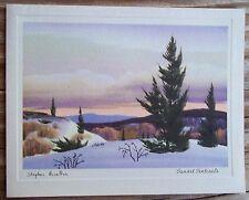 Vitg Stephen Hamilton Christmas Card Sunset Sentinels White Wyckoff  Never Used