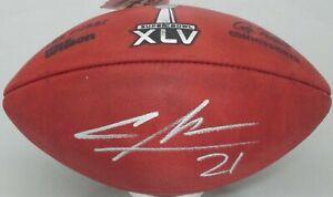 Packers CHARLES WOODSON Signed Wilson SB XLV Logo Authentic Football  - JSA