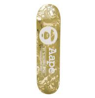AAPE by A BATHING APE Skate Deck Skateboard Bape Camo Gold Chrome Rare Limited