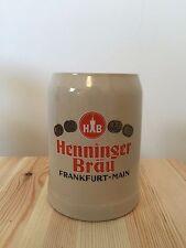 [HENNINGER] Vintage German Glazed Ceramic Stoneware Beer Mug 0.5 half liter