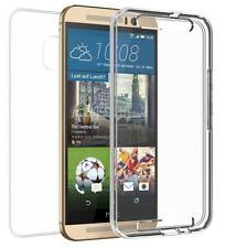 NEW TRI-MAX TRANSPARENT CLEAR SCREEN GUARD TPU CASE SLIM COVER FOR HTC ONE M9