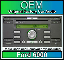 Ford 6000 Reproductor De Cd, Ford C-Max auto estéreo headunit Con Radio retiro llaves