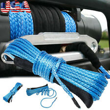 Us 50x316 7000 Lbs Synthetic Winch Rope 4wd Atv Utv Recovery Cable Blue