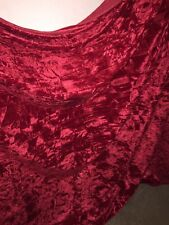 "10 MTR RED DIAMOND ICE CRUSH VELVET FABRIC...58"" WIDE SPECIAL OFFER £45"