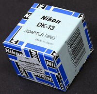 Nikon DK-13 Adapter Ring for DR-4 Angle Finder - Brand New In Box