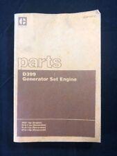 CAT CATERPILLAR D399 PARTS BOOK MANUAL GENERATOR SET ENGINE SEBP1291-01