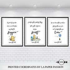 WINNIE THE POOH A4 Wall Prints, VARIOUS SIZES,Nursery Wall Prints,Decor Prints