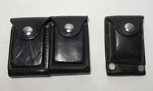Vintage Hunter 33-13 Black Leather Ammunition Ammo Reload Belt Pouch Lot