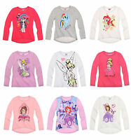 Girls Official Licensed Various Disney Long Sleeve T Tee Shirt Top 2 - 10 Years