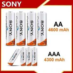 SONY® | AA 4600 mAh | AAA 4300 mAh | PILE BATTERIE RECHARGEABLE 1,2V Ni-MH