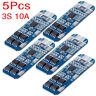 2/5PCS 3S 10A 12V 18650 Li-ion Lithium Battery BMS PCM Charger Protection Board