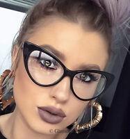 466e10e09e66 Big Cat Eye Rockabilly PinUp Hot Secretary Nikita Large EyeGlasses Frames  1377 L