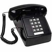 Corded Single Line Desk Telephone Vintage Office Landline W/ Double Gong Ringer