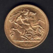 Australia.  1915 Sydney - Half Sovereign..  Full Lustre..  aU/UNC