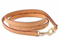 "Authentic Louis Vuitton Leather Shoulder Strap Beige 39.4-46.3"" LV A6932"