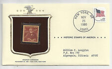 Andrew Carnegie Historical Stamps of America Sealed in Envelope 1980