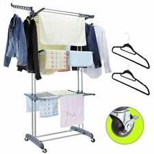 Rolling Clothes Drying Rack Laundry Rack Foldable Tendedero Para Secar La Ropa