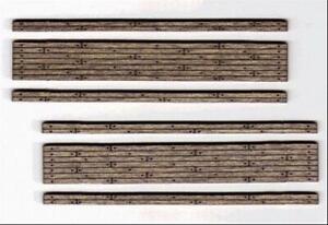N Scale - WOOD GRADE CROSSING, STAINED, 2 LANE, 2 EA.- Laser-Cut - BLN-015