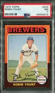 1975 Topps #223 Robin Yount Rookie! PSA 7 NM