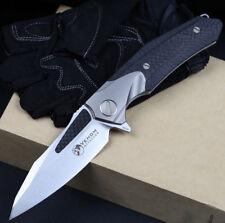 Kevin John Venom Attacker Knife M390 Blade Titanium Carbon Fiber High Quality
