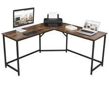 VASAGLE ALINRU Computer Desk, L-Shaped Corner Writing Desk, Space-Saving Study D